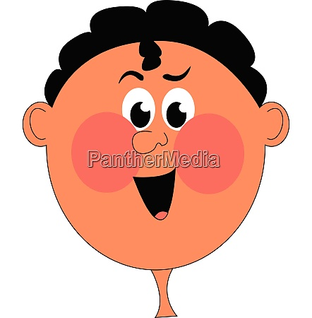 clipart of a boy with red