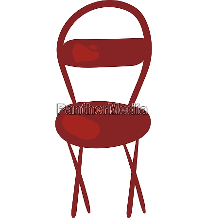 clipart of a red colored chair