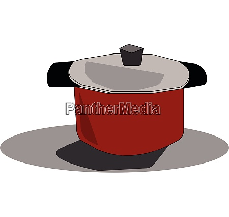 clipart of a red cookware with