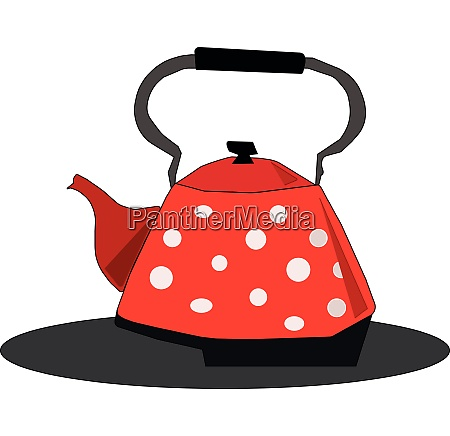 clipart of a red kettleteapotevening snacks