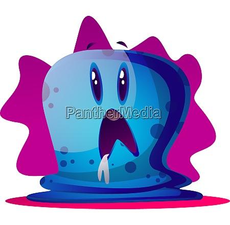 scard blue cartoon monster vector illustartion