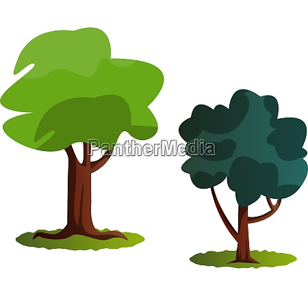 webcouple of green trees vector illustration