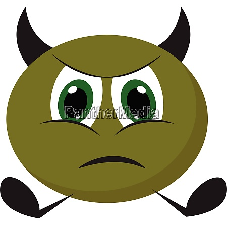 painting of an angry green monster