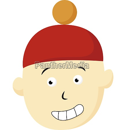boy with red hat vector