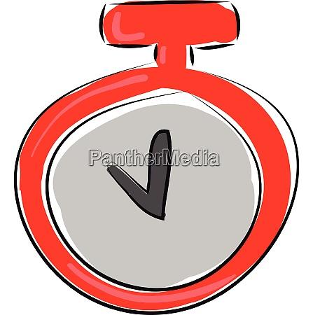 stopwatch hand drawn design illustration vector