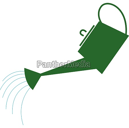 watering can hand drawn design illustration