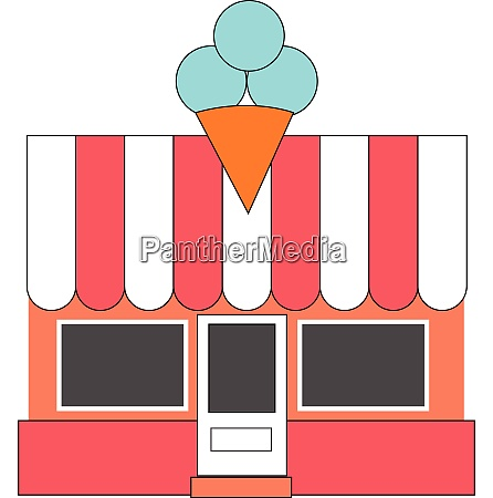 a well decorated ice cream shop