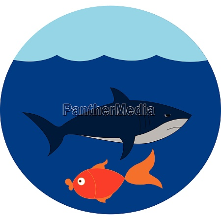 portrait of the underwater life vector