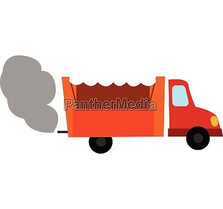 clipart of an orange dump truck