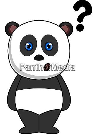panda mit fragezeichen illustration vektor auf