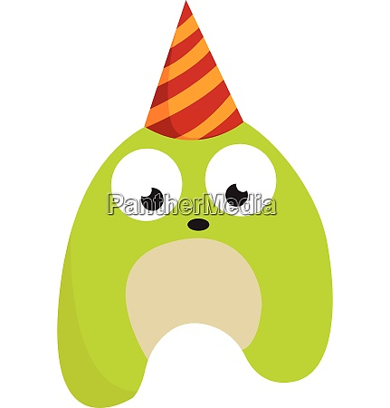 a birthday monster vector or color