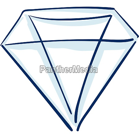 blue diamond vector or color illustration