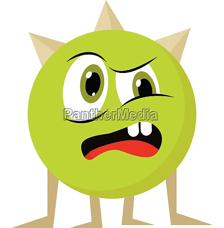 angry monster vector or color illustration