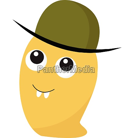 monster with green hat vector or