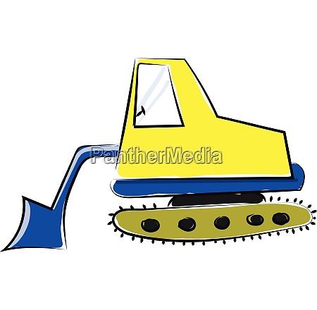 excavator vector or color illustration