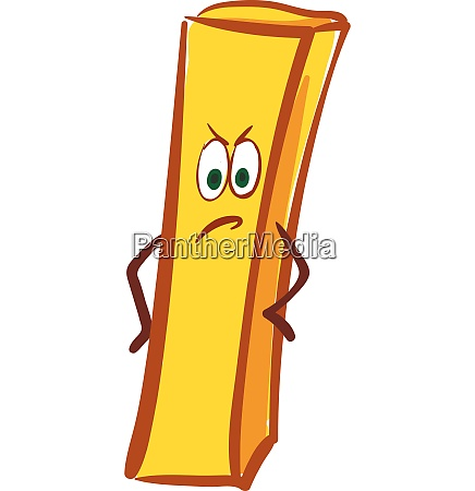 french fry vector or color illustration
