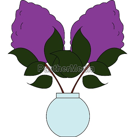 lilac with leaves vector or color