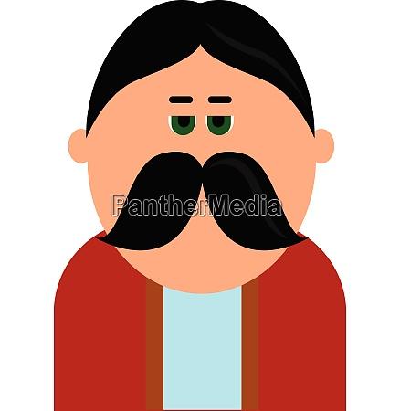 a man with big fat moustache