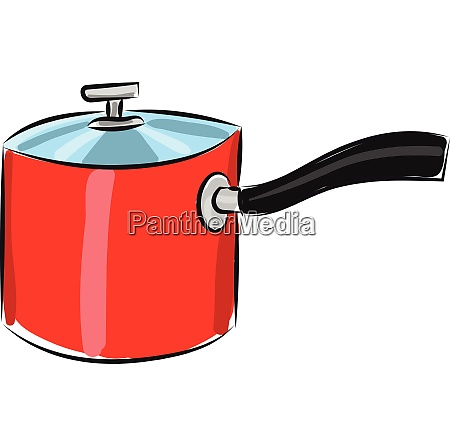 red pan vector or color illustration