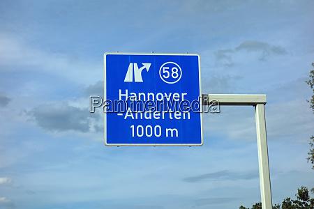 federal motorway exit hannover anderten hannover