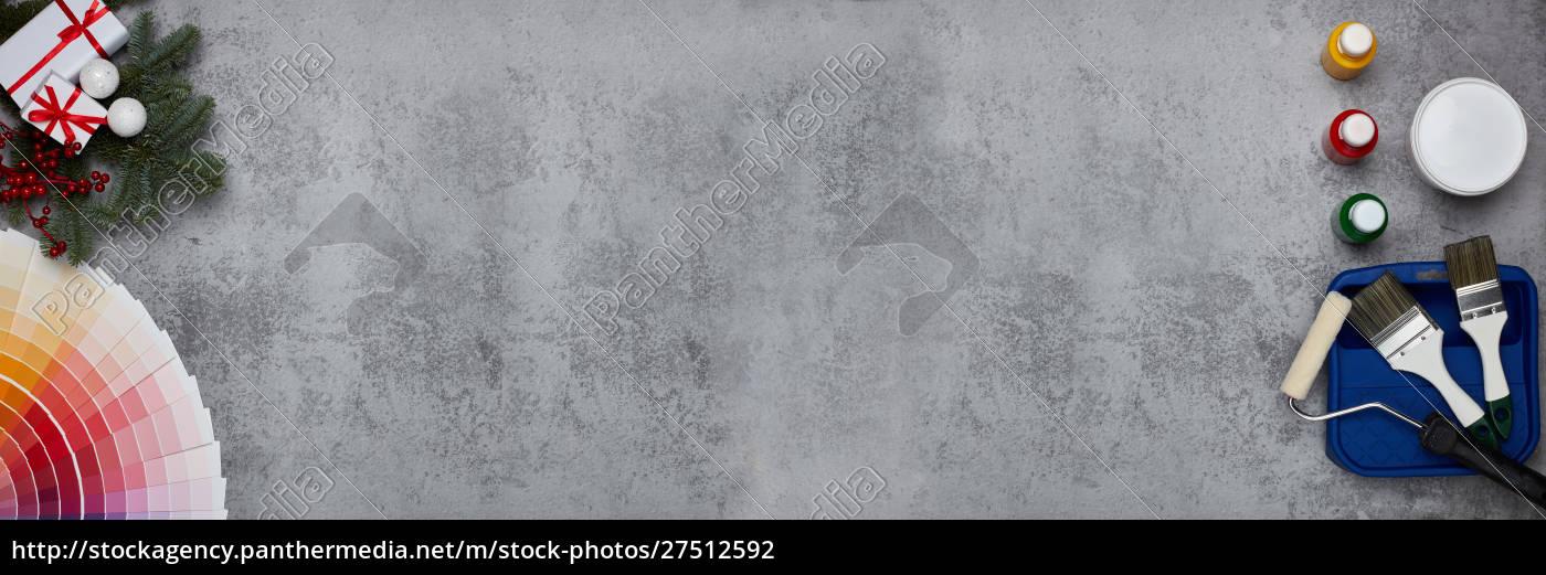 malzubehör, farbführer, und, weihnachten - 27512592