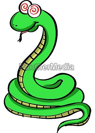 gruene schlange illustration vektor auf weissem