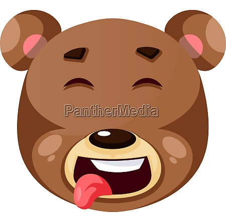bear is feeling funny illustration
