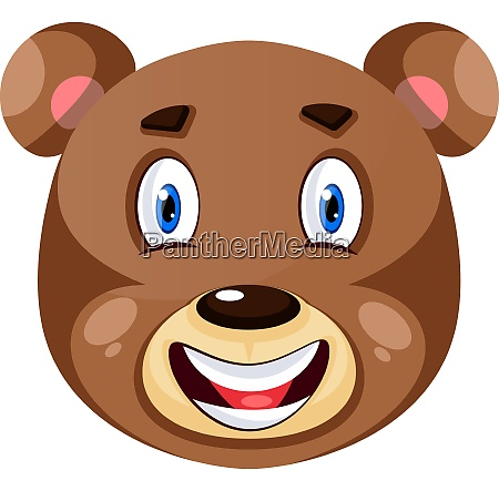 bear is feeling happy illustration vector