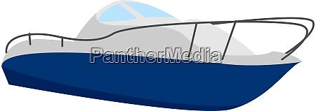 fast boat illustration vector on white