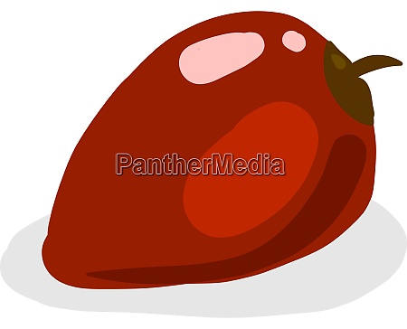rote tamarillo illustration vektor auf weissem