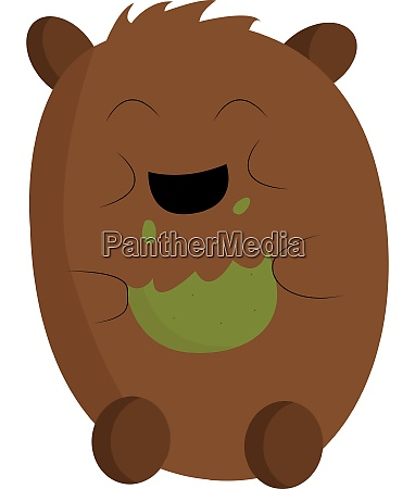 a brown bear with green cookies