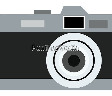 an old black camera vector or