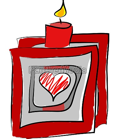 a red candle stick vector or