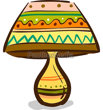 a colorful table lamp vector or
