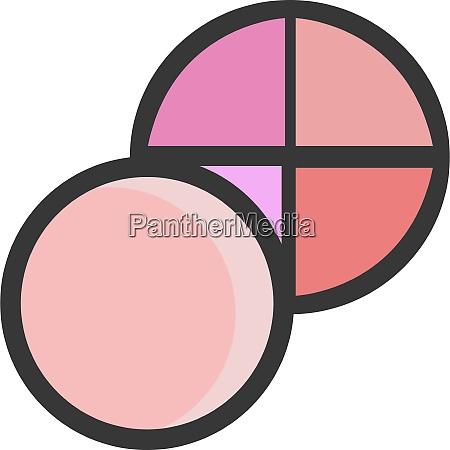 eine kosmetische pulver vektor oder farbillustration