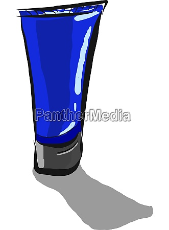 a cream tube vector or color