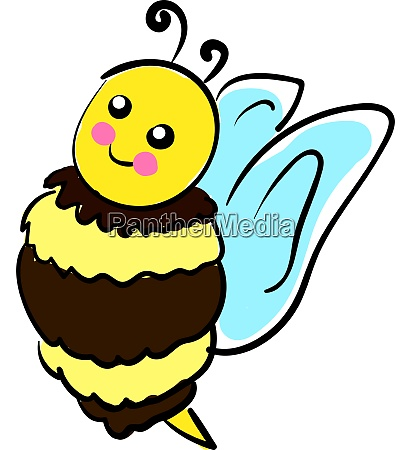 a cute bee vector or color