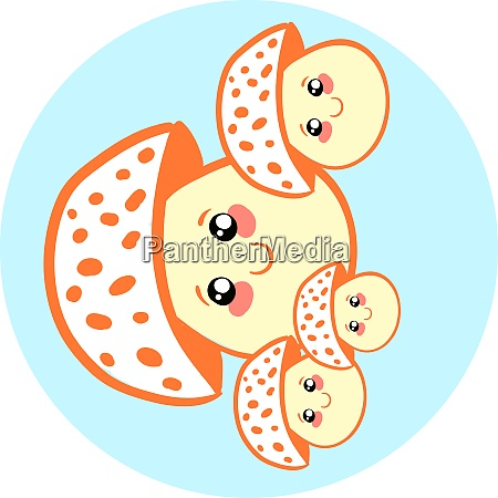 a cute little mushrooms vector or