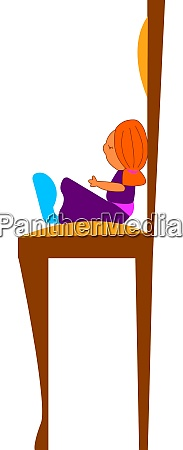 a doll with purple dress vector