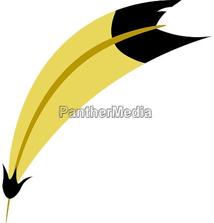 eine gelbe feder vektor oder farbillustration