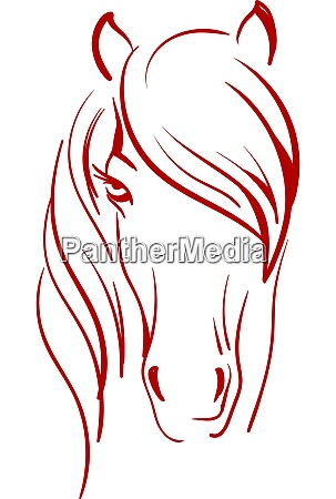 a silhouette of a horse vector