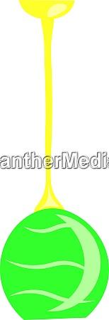 a green chandelier vector or color