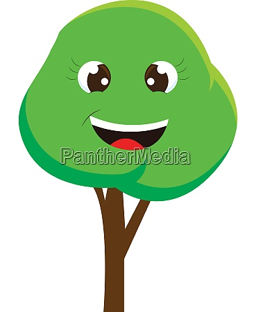 a happy tree vector or color