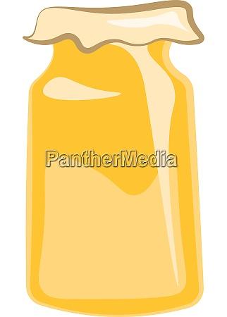 a jar of sweet honey vector