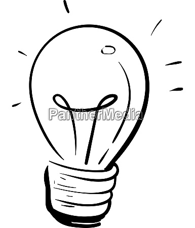 a lamp bulb silhouette vector or