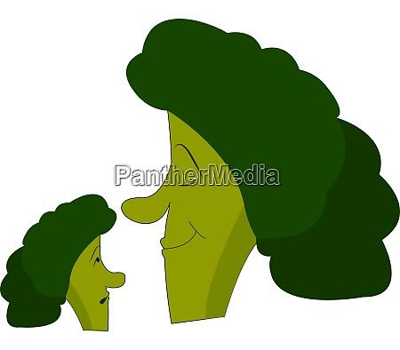 a cartoon of broccoli vector or