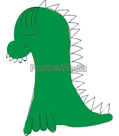 a little dragon vector or color