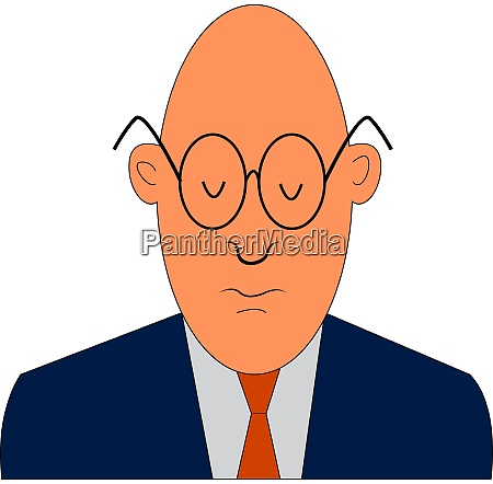 a man with orange tie vector