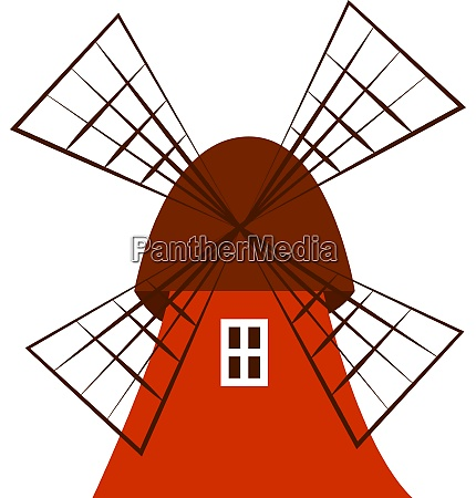 a windmill vector or color illustration