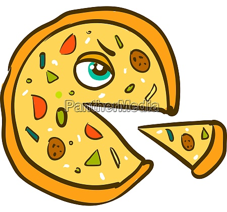 a monster pizza vector or color